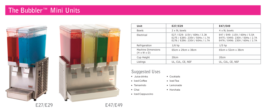 The Restaurant Warehouse - Crathco Cold Beverage Dispensers